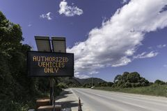 Authorized Vehicles Only Royalty Free Stock Photography