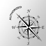 Authorized word written aside compass. Illustration of authorized word written aside compass Royalty Free Stock Photo