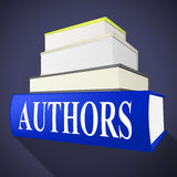 Authors Books Shows Writer Fiction And Fables. Authors Books Showing Writer Fiction And Fables Stock Photos