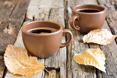 Authum morning coffee cup Royalty Free Stock Photography