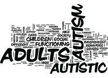 Autism In Adults Word Cloud Concept Royalty Free Stock Photos