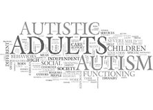 Autism In Adults Word Cloud Stock Photo