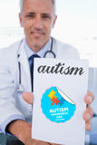 Autism against autism awareness day Royalty Free Stock Photography