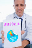 Autism against autism awareness day Royalty Free Stock Images
