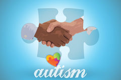 Autism against blue background with vignette Royalty Free Stock Images