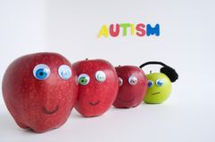 Autism Apple Series Stock Photography