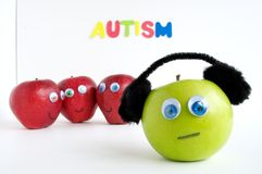 Autism Apple Series Royalty Free Stock Photos