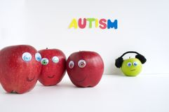 Autism Apple Series Royalty Free Stock Images