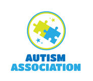 Autism association vector with jigsaw Stock Photography