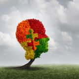 Autism Awareness Concept. And autistic development disorder as a growing tree symbol of communication and the puzzle of social behavior psychology with 3D vector illustration