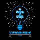 Autism awareness day Royalty Free Stock Image