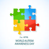 Autism awareness day Stock Images