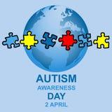 Autism awareness day design Stock Image