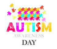 Autism awareness day Royalty Free Stock Photo