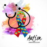 Autism Awareness Day. Illustration of a Background for Autism Awareness Day Stock Photography