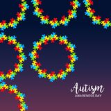 Autism Awareness Day. Illustration of a Background for Autism Awareness Day Stock Photo
