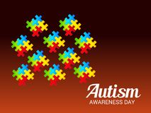 Autism Awareness Day. Illustration of a Background for Autism Awareness Day Royalty Free Stock Photography