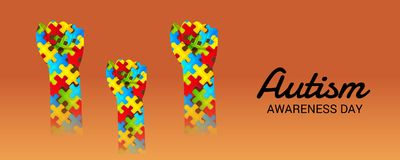 Autism Awareness Day. Illustration of a Background for Autism Awareness Day Royalty Free Stock Photos