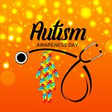 Autism Awareness Day. Illustration of a Background for Autism Awareness Day Stock Images