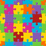 Autism awareness day. World autism awareness day. Colorful seamless puzzle background. Symbol of autism. Vector Illustration vector illustration