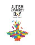 Autism awareness design vector Royalty Free Stock Photos