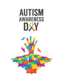 Autism awareness design vector Stock Photography