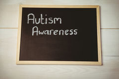 Autism awareness drawn on blackboard Royalty Free Stock Images