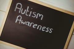 Autism awareness drawn on blackboard Royalty Free Stock Photography