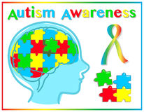 Autism awareness graphic elements Royalty Free Stock Image