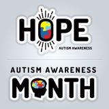 Autism Awareness Graphics Illustration Stock Photo