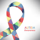 Autism awareness icon abstract illustration Royalty Free Stock Image
