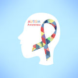 Autism awareness icon abstract illustration. Vector eps10 Stock Photo