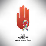 Autism awareness icon abstract illustration Stock Images