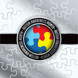 Autism Awareness Month Emblem Illustration Royalty Free Stock Photography