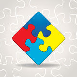 Autism Awareness Puzzle Pieces Illustration Stock Image