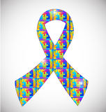 Autism awareness ribbon Stock Images