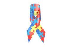 Autism Awareness Ribbon, 3D rendering Stock Photography