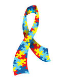 Autism Awareness Ribbon Royalty Free Stock Photos