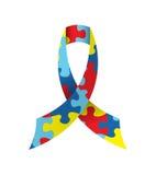 Autism Awareness Ribbon Isolated Illustration Royalty Free Stock Photography