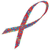 Autism Awareness Ribbon Royalty Free Stock Photography