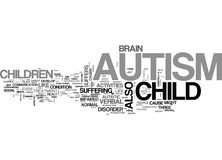 Autism A Brief Overview Word Cloud Stock Images