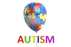 Autism concept with balloon, 3D rendering Royalty Free Stock Photography