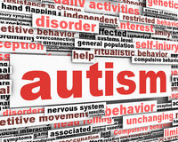 Autism conceptual design. Developmental disability message Stock Image