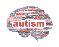 Autism icon design isolated on white Royalty Free Stock Photos
