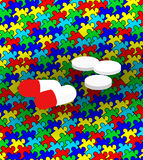 Autism and medication Stock Image