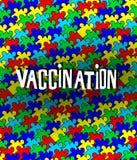 Autism och vaccinering Arkivfoton