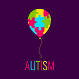 Autism poster with balloon Royalty Free Stock Images