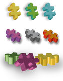 Autism puzzle pieces. Page of vector illustrated colorful autism puzzle pieces Royalty Free Stock Image