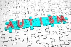 Autism Puzzle Pieces Autistic Condition Find Cure Treatment 3d I. Llustration Stock Photography