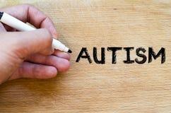 Autism text concept Royalty Free Stock Photos
